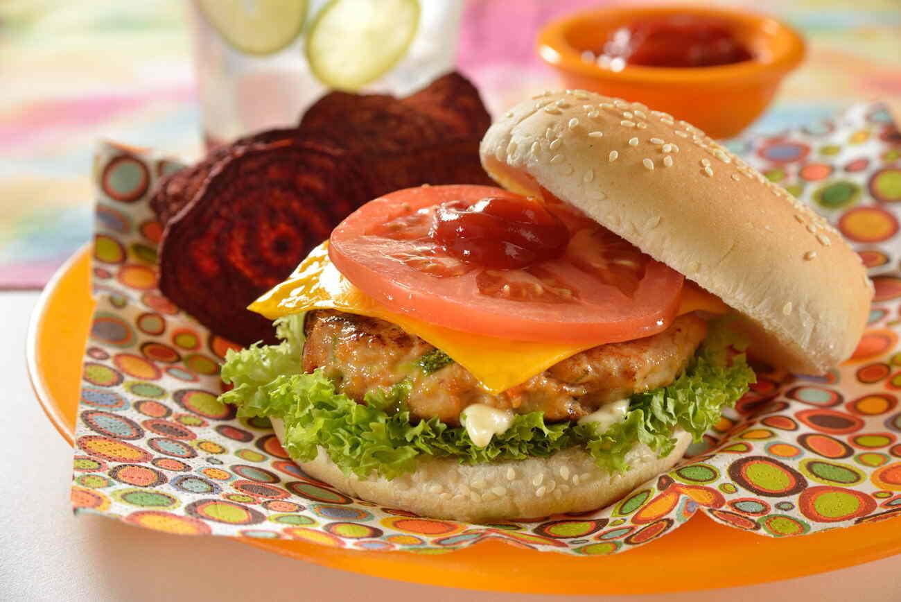 Hamburguesa de pollo con verduras nutrioli - Hamburguesa de verduras ...