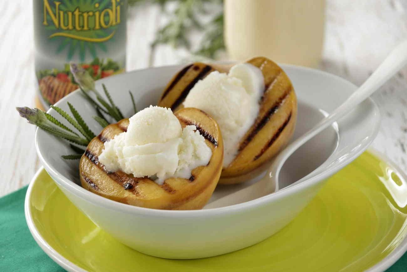 duraznos rellenos de helado 2
