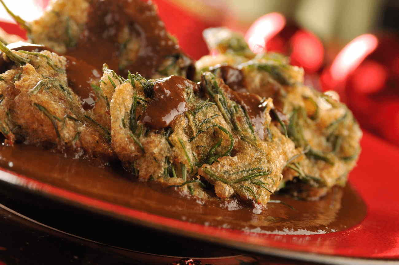Romeritos with shrimp cake