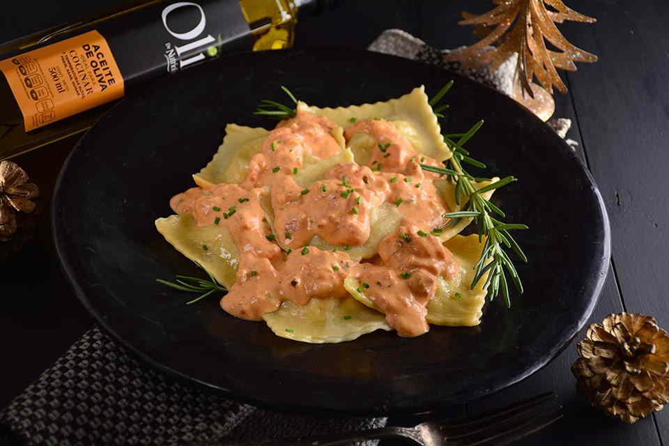 ravioles-en-salsa-rosa